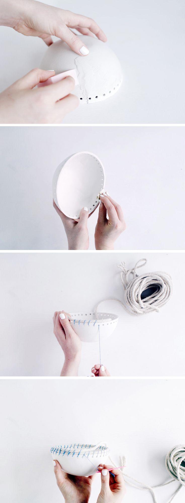 DIY Clay & Rope Pot | Fall For DIY