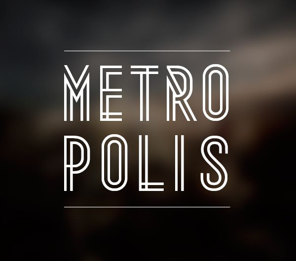 Metropolis | Font | Free Download  22/02/2012          Share on Tumblr    A beautiful modern but at the same time vintage style font. Great for headings in posters, magazines..etc. Love the smart look of it too. Will become very handy when it comes to future projects.