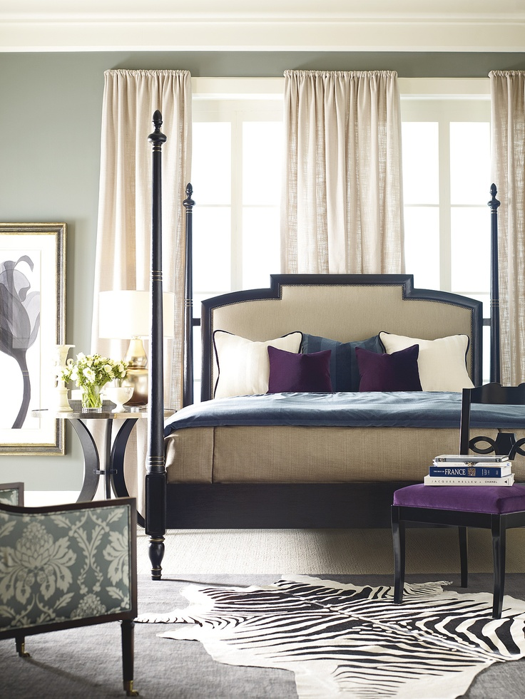 Superior Bedroom,Luxury Elegant Henredon Acquisitions Paris Rolando Bed With  Upholstered Headboard Feat Cream Curtains Such As Round Table,Agreeable  King Upholstered ...