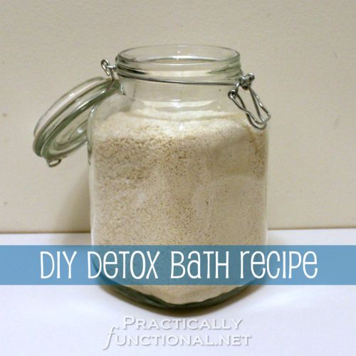 DIY Detox Bath Recipe: Help your body detox with items you probably already have in your pantry!