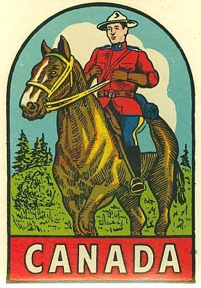 Canada Mountie Decal - 1965