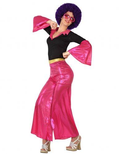 Roze disco kostuum voor dames