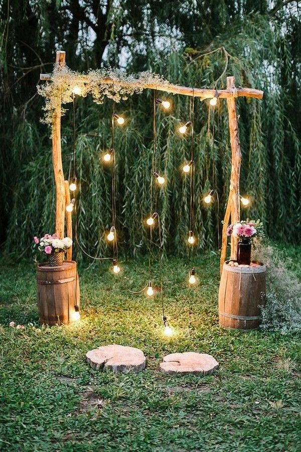 15 Creative Backyard Wedding Ideas On A Budget Lights Wedding