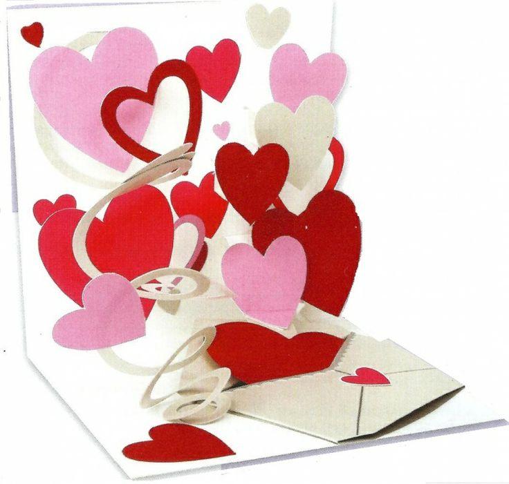 Valentijn - Pop up Wenskaart - POP996 Love Letter   Valentijn   kaartfanaat