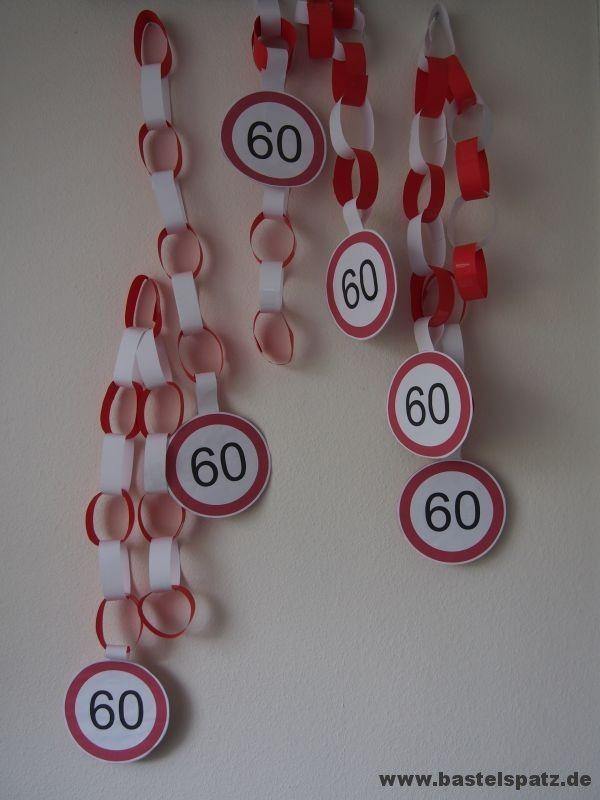 Girlande zum 60. Geburtstag