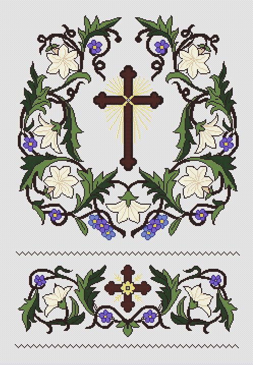 The lily of the Virgin Ecclesiastical Design by FancyworkDesign