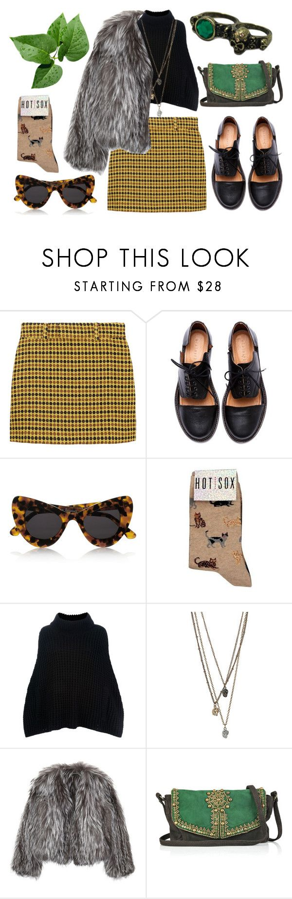 """faux"" by grunge-kittens ❤ liked on Polyvore featuring Miu Miu, Minimarket, Illesteva, HOT SOX, Dolce&Gabbana, Isabel Marant, Antik Batik and Rare London"