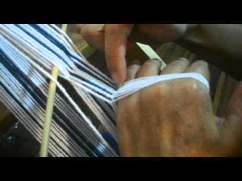 TELAR MAPUCHE - Paso 3 Hacer tonon, y colocar paño o cordón