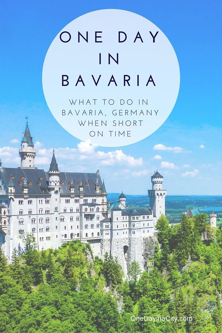 One Day in Bavaria: What to do, see, and eat plus where to sleep if short on time in the Bavaria region of Germany, including a stop at the incredible Neuschwanstein Castle.