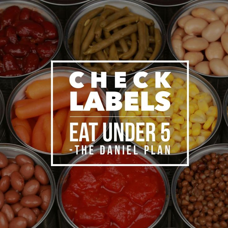 """Always follow this rule """"Eat under 5"""". Check the label"""