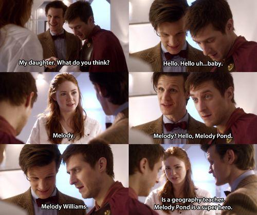 Melody Pond is a superhero