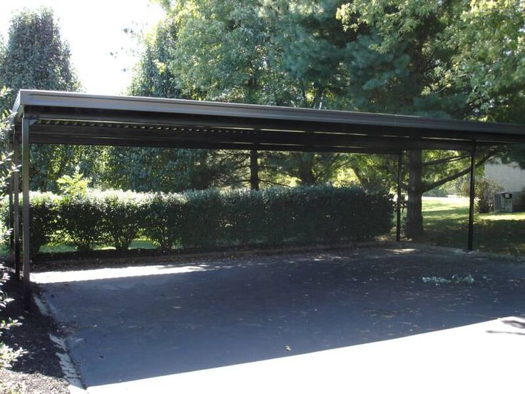 Large carport tuin pinterest for Single slope carport