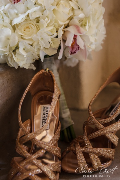 Flowers and Shoes.  Dove Canyon Country Club Wedding - May 27, 2012 02: Country Club Wedding, Flower