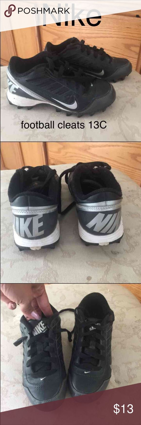 NIKE boy's football cleats 🏈 NIKE boy's football cleats size 13C  🏈🏈.  In GREAT CONDITION. Sport cleats 🏈⚾️⚽️ Nike Shoes Sneakers