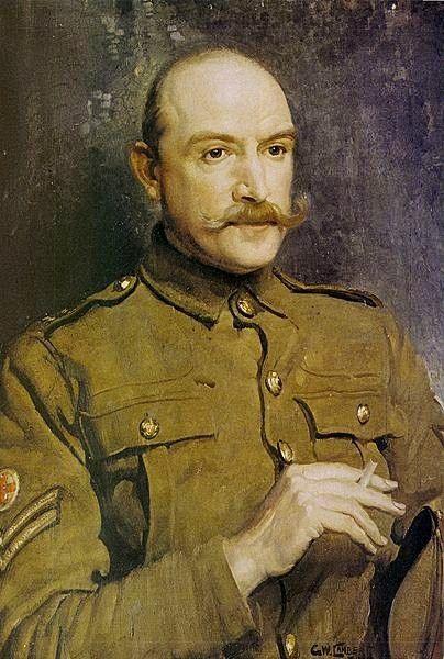 Portrait of Arthur Streeton, 1917 by George Lambert (Australian 1873-1930)....elegant military poise...