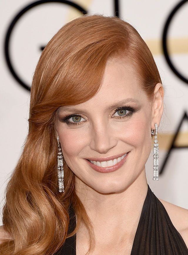 Jessica Chastain waves