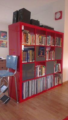 red expedit kallax organize pinterest bedroom. Black Bedroom Furniture Sets. Home Design Ideas