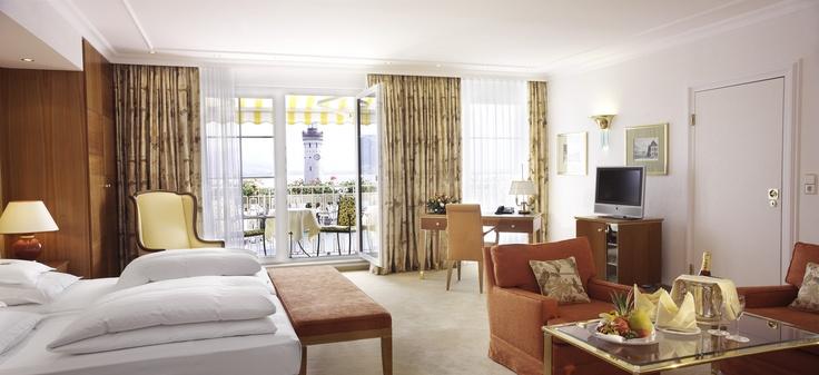 Luxus pur - Eine Suite mit Seeblick im Hotel Bayerischer Hof