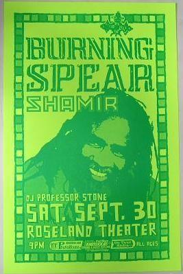 Burning Spear Shamir Portland Reggae Concert Poster