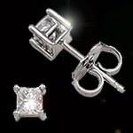 princess diamond solitaire stud earrings .25ctw: Stud Earrings, Contest Help, Earring Studs