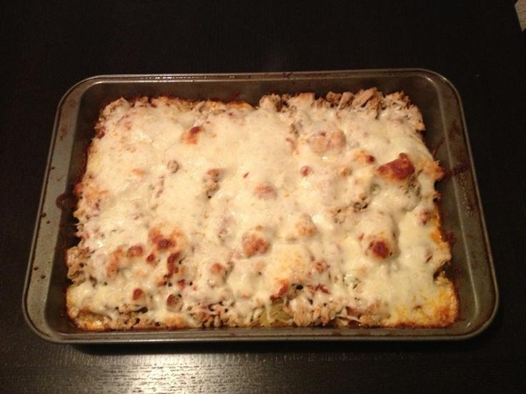My rendition of spaghetti squash lasagna. So yummy!