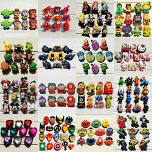 Caliente de la historieta 8-14 unids Súper héroes Vengadores Secuaces de South Park Mickey zapatos de hebilla accesorios del zapato de Cristal encantos regalo del partido(China (Mainland))