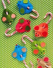 vánoční myši, vánoční lízátka,  mikulášská nadílka