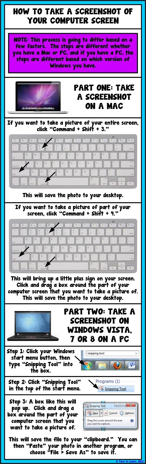 A Turn to Learn: How to Take a Screenshot of Your Computer Screen!