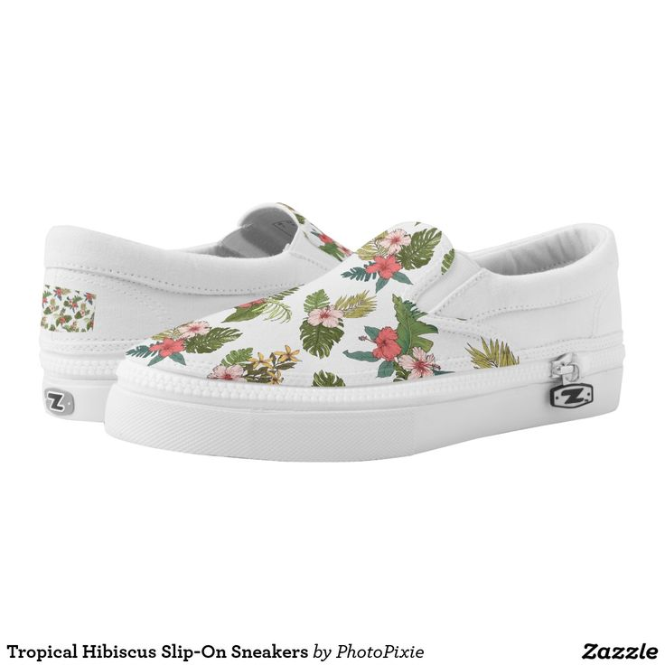 Tropical Hibiscus Slip-On Sneakers
