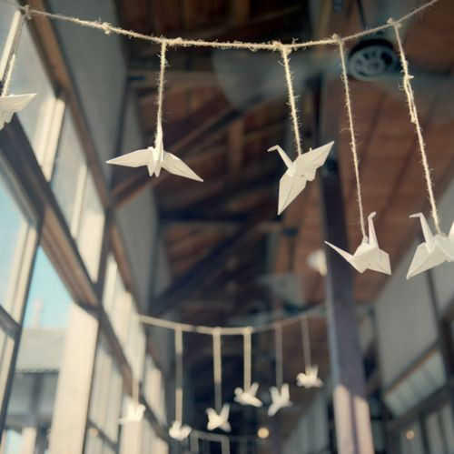 paper cranes. yes.