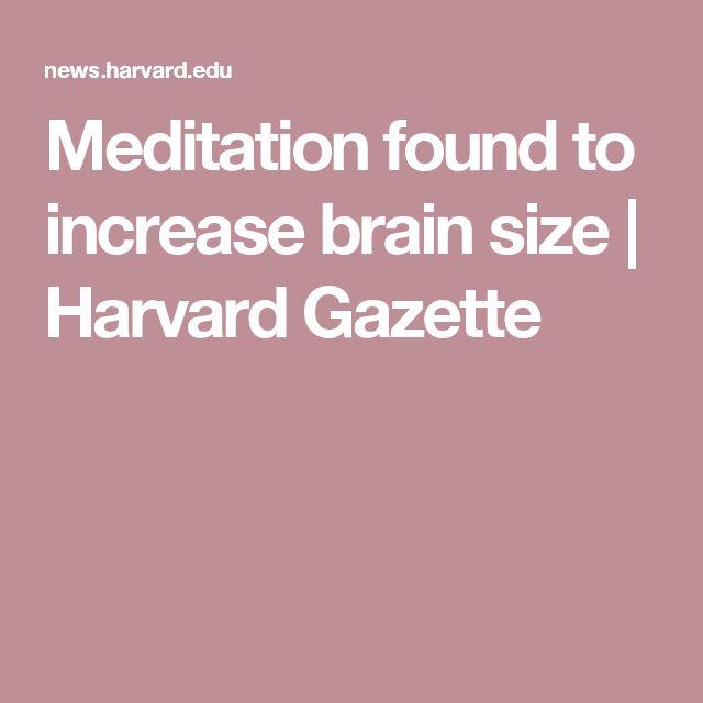 Meditation found to increase brain size | Harvard Gazette