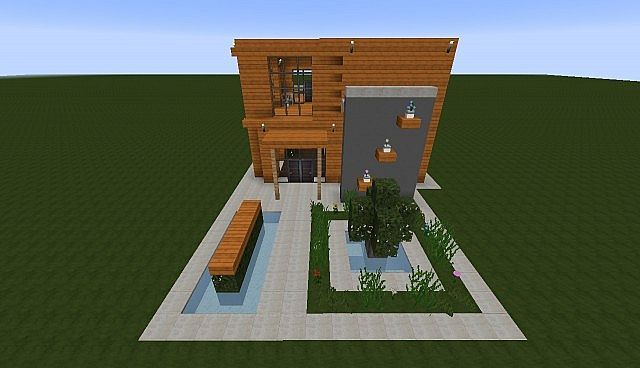 minecraft modern house wood - Google Search