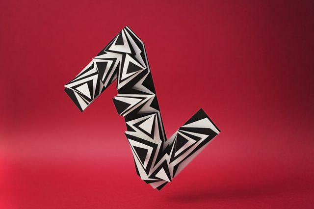 #3D Alphabet #Paper Sculpture of Z by Jerome Corgier