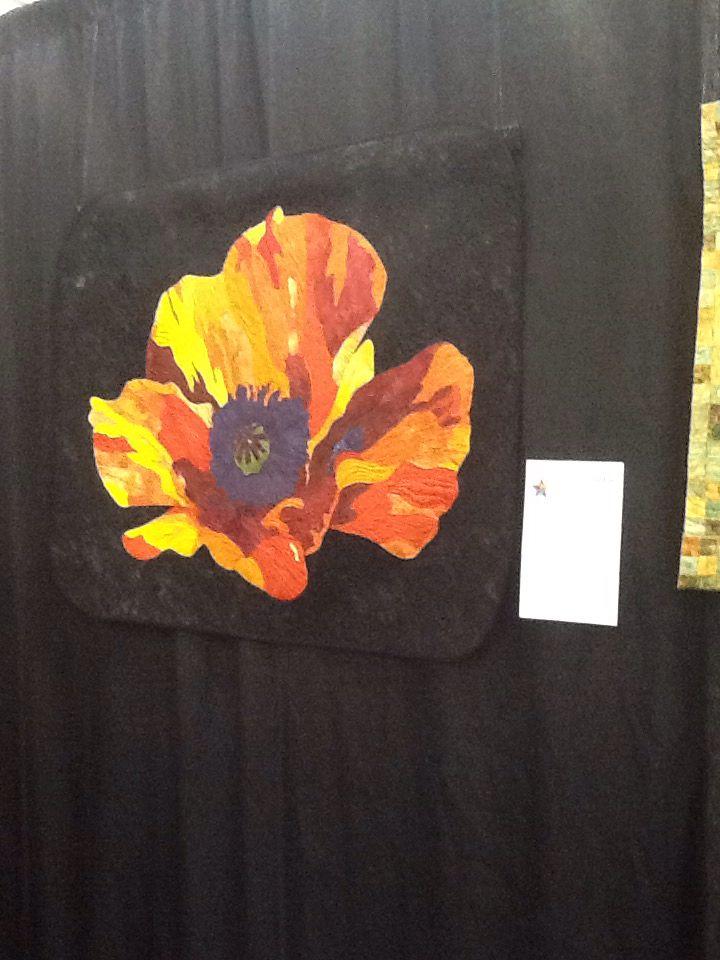 My poppy made at the Elaine Quell class.