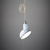 Miniature Angled Cloche Lamp Shade in Grey, from Nook