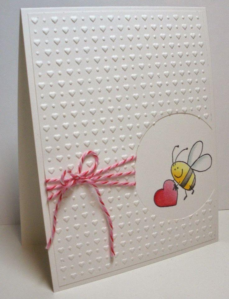 Handmade Valentine Card Embossing Folder Tiny Hearts