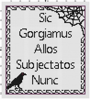 We Gladly Feast Upon Those Who Would Subdue us - Addams Family Motto Halloween Cross Stitch Pattern - Instant Download by SnarkyArtCompany on Etsy