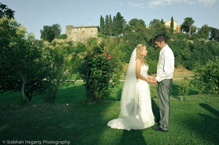 Happy couple at Borgo wedding.