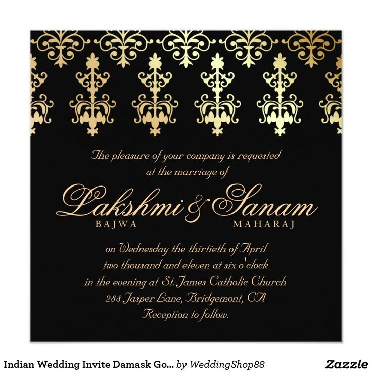 46 best oriental wedding invitations images on pinterest oriental shop indian wedding invite damask gold winter black created by personalize it with photos text or purchase as is stopboris Gallery