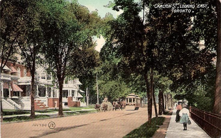 Carleton Street looking east, Toronto, Ontario ca. 1908