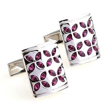Deks Bros Purple Crystal Leaf Kol Düğmesi-Taşlı Kol Düğmeleri-DEKS BROS-DEKS BROS PIRPLE CRYSTAL LEAF KOL DÜĞMESİ-Taşlı Kol Düğmeleri-DEKS BROS-Kol Düğmesi, Kravat, Gömlek, hediye ve tüm aksesuar çeşitleri