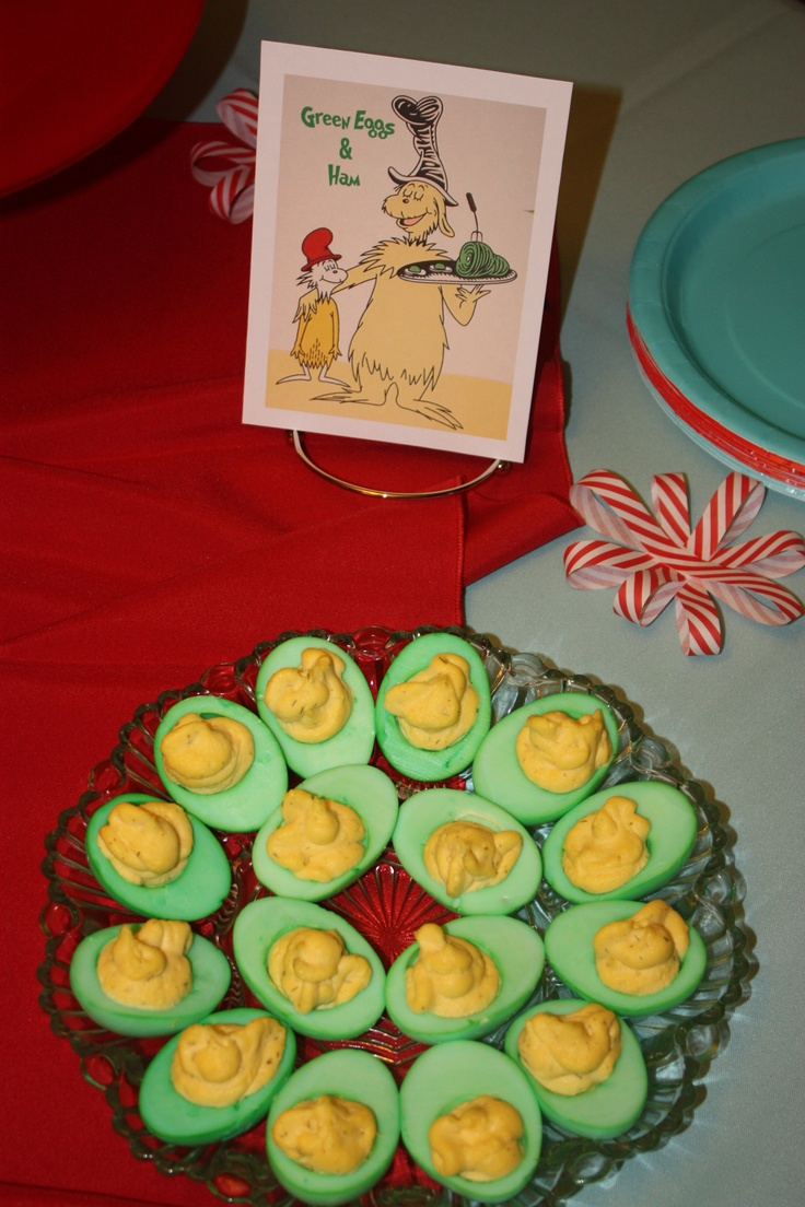 Deviled Green Eggs For Dr Seuss Shower EggsBaby ShowersParty FunThemed PartiesFood IdeasBaby