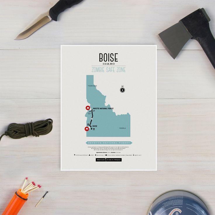 Zombie Safe Zone - Boise Map