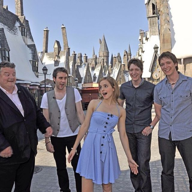 HOLY SHIT ITS HAGRID, DRACO, MIONE AND THE TWINS. WAIT. WAIT THE TWINS!? *cri