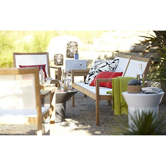 Regatta Mesh Sofa In Outdoor Sofas Crate And Barrel Outdoor