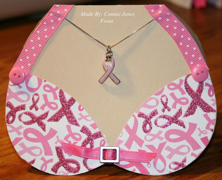 Front of bikini card-I added a ribbon charm for the necklace.