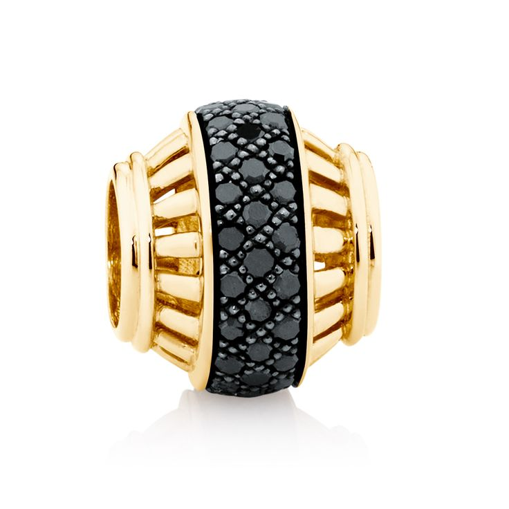 10ct gold and diamond* charm (12536849) #marrakesh #emmaandroe *Coloured and black diamonds are irradiated and heat treated, respectively, to permanently enhance colour and may be sensitive to heat.