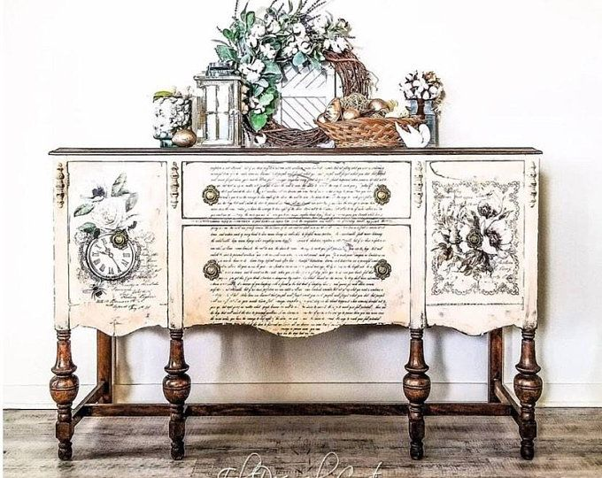 Rub On Transfers For Furniture Furniture Decals Redesign Etsy Painted Furniture Antique Buffet Furniture Inspiration
