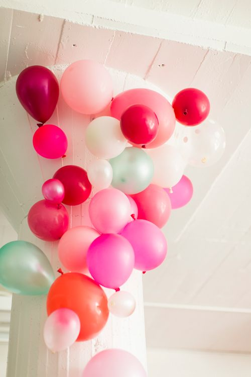A bridal collaboration with bhldn and the house that lars for Balloon decoration color combinations