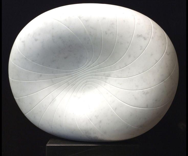 Nebula I, Carrara marble by Mel Fraser, contemporary stone sculpture